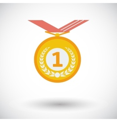 Icon medal vector image