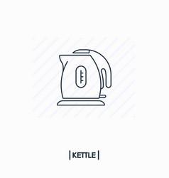 kettle outline icon isolated vector image vector image