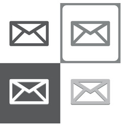 mail or envelope icon vector image vector image