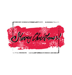merry christmas grunge card vector image vector image