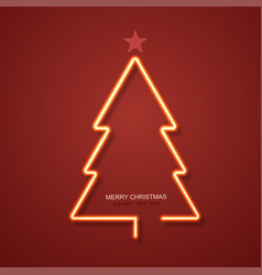 modern neon christmas tree background vector image