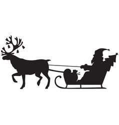 reindeer santa vector image vector image
