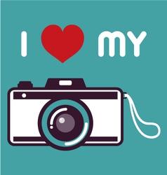 Retro camera poster vector image