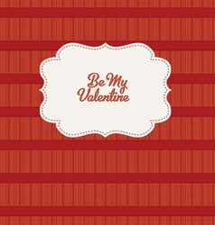 retro valentine design vector image