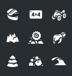set of atv icons vector image vector image