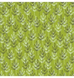 Simple wallpaper with doodle grass vector