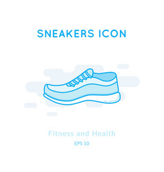 Sneakers icon isolated on white vector