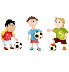 soccer cartoons vector image vector image