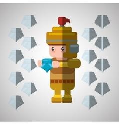 Videogame icon design vector image