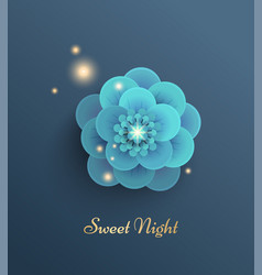 with turquoise flower vector image