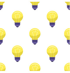 yellow bulb isolated on white presenting idea vector image vector image