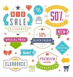 Sale Tags and Labels Design Vintage Set vector image