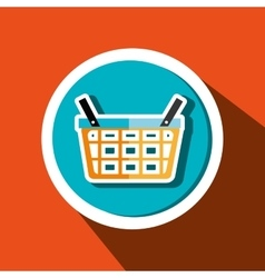 Basket buy market shop vector