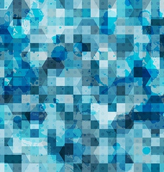 Abstract blue square grunge seamless vector