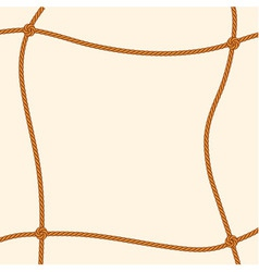 Brown rope square frame vector