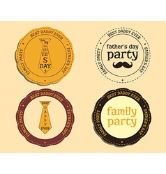 Happy fathers day logo and badge template with vector