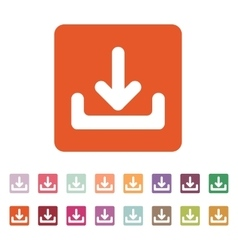 The download icon load symbol flat vector
