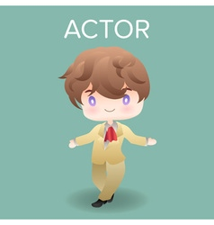 cute cartoon or mascot actor for introducing vector image