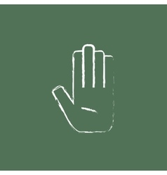 Medical glove icon drawn in chalk vector