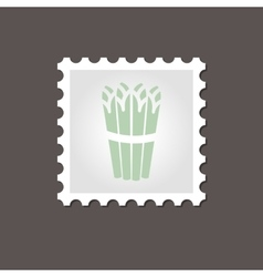 Asparagus stamp outline vector