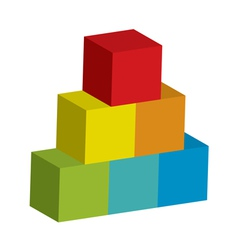 Block tower vector
