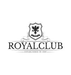 Vintage logo royal club company vector