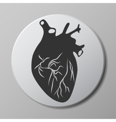 Heart grey icon vector