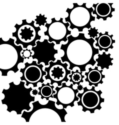 Black gears mechanism background vector
