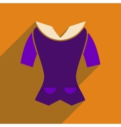 Flat icon with long shadow womens blouse vector