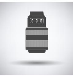 Icon of photo camera zoom lens vector