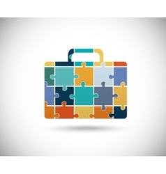 Abstract color suitcase vector image vector image