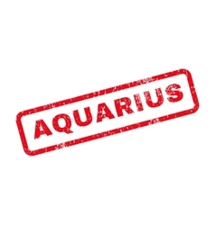 Aquarius text rubber stamp vector