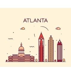 Atlanta skyline trendy linear vector
