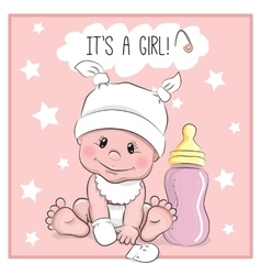 Baby girl vector