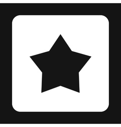 Black celestial star icon simple style vector