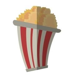 Bucket pop corn cinema graphic shadow vector