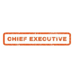 Chief Executive Rubber Stamp vector image vector image