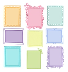 Collection of floral frames vector image