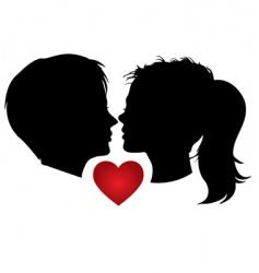 Couple kisses vector
