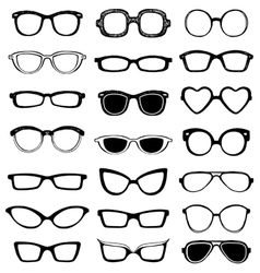 Drawn glasses set vector image