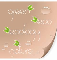 eco and organic logos vector image