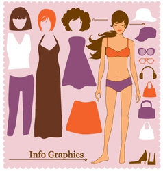fashion info graphics vector image vector image
