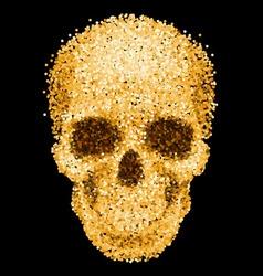 Golden skull vector image vector image