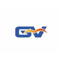 Gv letter logo vector