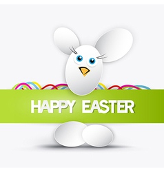 happy easter theme vector image vector image