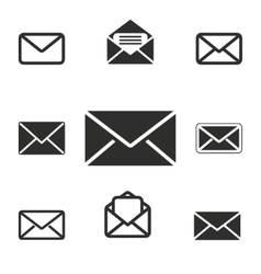 Mail icon set vector image vector image