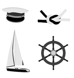 Navy set vector
