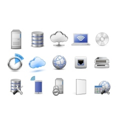 Network devices and computing icons vector image vector image