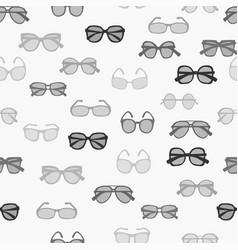 Pattern with grayscale fashion retro glasses vector