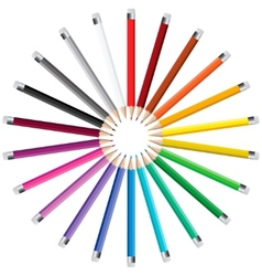Pencils in a circle vector image vector image